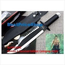 Rambo 2 Survival Edition - Hunting Camping Knife - Rambo II