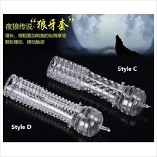 Condom C style Thin Spike sets massage delay condom Reusable Washable