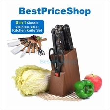 8 in 1 Stainless Steel Classic Kitchen Knife Knives Set DZ-8