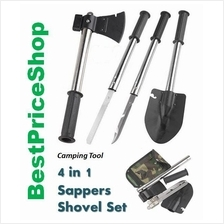 4 in 1 Sapper Shovel - Best Hunting Camping Tool - Axe Saw Knife