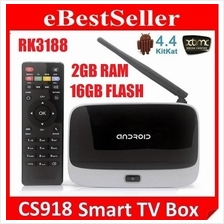 CS918 Q7 Android 4.4.2 QuadCore 1.6GHz TV Box BT Wifi MK809 mini PC
