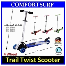 Quality Four Wheel Trail Twist Scooter Skating adjustable height