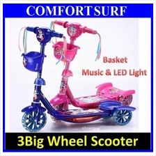 Quality Micro Scooter Ajustabel Height- With Basket, Music & LED Light