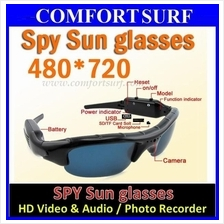 HD Spy Sun Glasses Sunglass Camera Audio Video Camcorder Hidden Camera