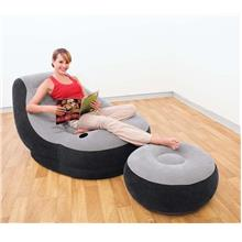 Original Inflatable Single Seater Air Sofa chair +Foot Rest / Air Pump
