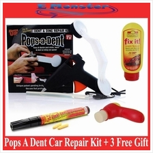 Pop / Pops A Dent Car Repair Kit Remove Dent Fast & Easy + 3 Free Gift