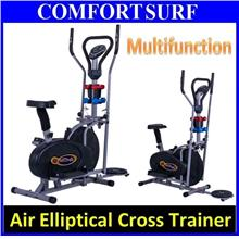 All in 1 Elliptical Cross Trainer Twister Cardio/Twister/Dumbbell/LCD