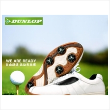 DUNLOP GENUINE LEATHER GOLF SHOES, CASUAL SHOES BREATHABLE WATERPROOF
