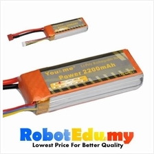 Arduino You&Me 11.1V 3S 2200mAH 30C Rechargeable LiPo Battery