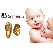 Creative DIY 3D Baby Hand Footprint Kit With Photo Frame