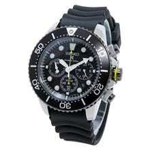 Seiko SSC021 SSC021P1 Solar Chronograph Diver 200M Rubber Mens Watch