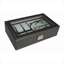 Carbon Fiber Watch Box & Spectacles Storage Box 6+3 with Key Lock
