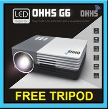 【ORIGINAL】OHHS G6 Mini LED HDMI Projector (Support Powerbank)