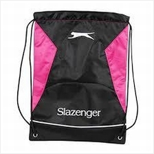 2X Slazenger Fitness Sport Pink Draw String Bag (UK) gym