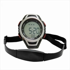 Sport Digital Heart Rate Monitor Watch With Chest Strap