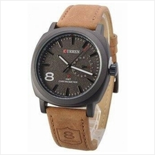 CURREN 8139 Sport Military Chronometer Wrist Watch Genuine Leather