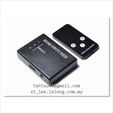3 input to 1 output HDMI Switcher with Remote Control  free Shipping
