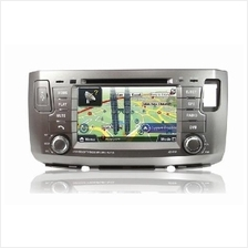 "PASSION 7"" Double Din DVD MP3 Player with PAPAGO X8 GPS: PERODUA ALZA"