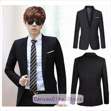 Korean Style Casual Slim Fit Men Blazer Coat Jacket/Wedding Suit)