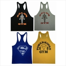1cm Shoulder Strap Gym Training Singlet Gold's weight lifting berat