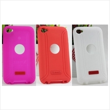 Capdase Silicon Case for iPod Touch 4 with stand + Screen Protector