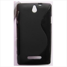 S-Shaped Soft Case for Sony Xperia E dual C1505 C1504 C1605 C1604