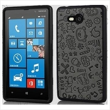 Cartoon Silicon Case for Nokia Lumia 820 (82038)
