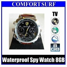 8GB HD 720p Waterproof Spy camera Watch with AV Out