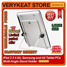 All Tablet PCs iPad 2 3 4 Air Galaxy Tab HTC Multi-Angle Stand Holder