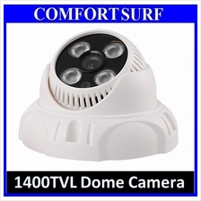 1400TVL CCTV Dome Camera 1/4' IR Infrared Color 4PC Taiwan Array Lamp