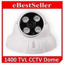 1400TVL SecurEyes CCTV Dome Camera 1/4' IR 4PC Taiwan Array Lamp