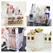5x Makeup Acrylic Organizer Makeup Tools Storage Box Case Value Set