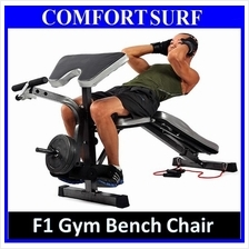 F1 Multifunction Gym Sit Up Dumbbell FID Bicep Leg Curl Bench Chair