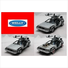 Welly 1:24 DIECAST Back To The Future I / II / III Car Silver Model