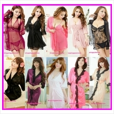 Nightwear Dress G-String Robes Set Sleepwear Sexy Lingerie Pajamas