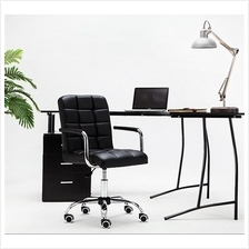 Fully Assembly-Full Leather Comfort Swivel Office Chair