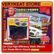 2 Pairs High Efficiency Static Electric Sun Shade Mirror Absorb Car