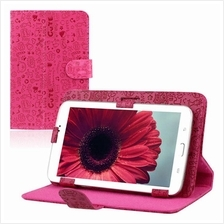 Pink cute 7' Universal Leather Stand Case Cover For Android Tablet PC