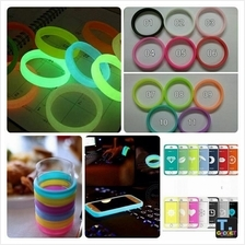 Ring Case soft silicon mobile IPhone & Samsung- Glow in the dark