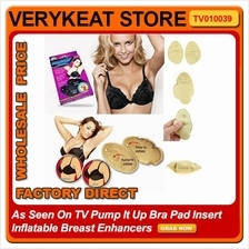 As Seen On TV Pump It Up Bra Pad Insert Inflatable Breast Enhancers
