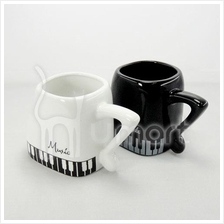 Music Piano Ceramic Cup with Note Handle