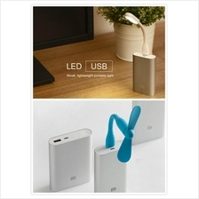 100% Premium Quality Xiaomi Mi Portable USB Mini LED Light Lamp / Fan