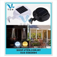 Solar LED Light Lamp Wall Mount Power Super Bright 8 LED bulb
