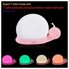 5V Snail 1 hour auto off touch night light with 7 colors changing