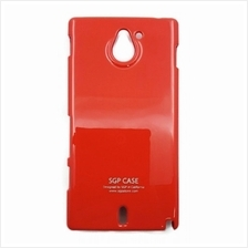 Sony Xperia Sola Back Cover Case Metallic Red Color