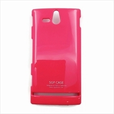 Sony Xperia U Back Cover Case Metallic Pink Color
