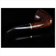 ZOBO Black sandalwood bent smoking tobacco pipe with filter element