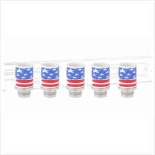 Ceramic Drip Tip (American Flag) / e-cigarette ecig mechanical mod