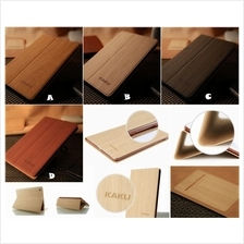 iPad 2 3 NEW 4 WOOD WOODEN SMART Flip Fold Leather Case Cover *FREE SP