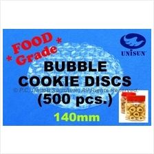 x 500 pcs FOOD GRADE 140mm CIRCLE BUBBLE WRAP for Cookie Biscuit Snack
